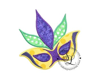 Mask Applique Embroidered Patch, Sew or Iron on