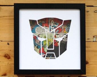 Transformers Silhouette Wall Art - Unique Retro Geekery Home Decor Comics