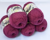 Yarn for Knitting or Crochet, Lace Weight, Super Fine, Mauve Loops & Threads Woolike
