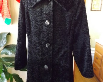 Hillary Radley Studio Faux Persian Lamb Coat with Free Shipping!