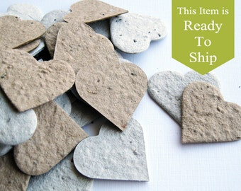 EcoBlend - READY-TO-SHIP - Recycled Grocery Bag & Newspaper Plantable Seed Paper Confetti, Eco Friendly, Wedding Favors, Bridal Showers