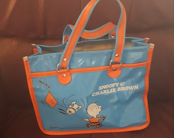 1950, 1958 snoopy and charlie brown bag