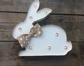 Lighted Sign / Marquee Easter Sign /  lighted marquee sign / Bunny sign /  Rustic Sign / marquee letter