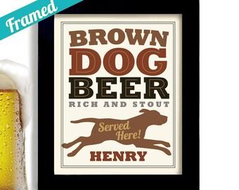 Chocolate Lab Beer Drinker Beer Gift Brown Retriever Beer Art Brown Dog Art Print Personalized Dog Art Chocolate Labrador Dog Owner Gift