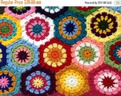 ON SALE - 10% OFF Crochet Granny Square American girl doll blanket