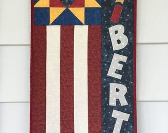 Wall Hanging, Flag, Old Glory, Patriotic, Red White and Blue, Independence Day, Liberty, Door Hanger