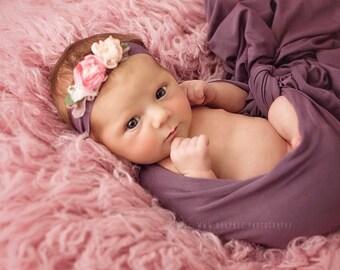 Our *LUX* 100% wool Flokati, Rosy Pink luxury wool flokati, Newborn Photography prop Greek Flokati, 3 x 5 foot prop layer