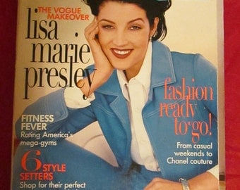 1996 VOGUE MAGAZINE With Lisa Marie Presley (Elvis Presley's Daughter) Cover
