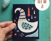 Boxed Set Holiday Swan Greeting Cards