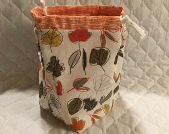 Clearance - Falling Leaves Sock Sack Ready to Ship