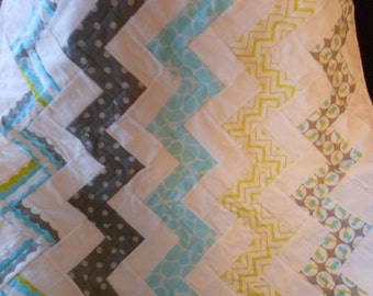 Flannel Child Quilt -  30 inches X 35  inches