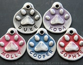 Pet Gifts Pet Tags Personalize Dog ID Tags for Dog Gift Handstamped Dog Tags for Pets Metal Pet ID Tags for Dogs