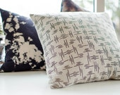 SALE - Screen printed linen pillow cushion case