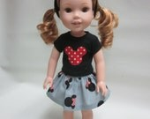 14.5 Inch Doll Wellie Wisher Favorite Mouse Outfit