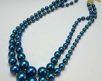 1960s Vintage Cobalt Blue Beads