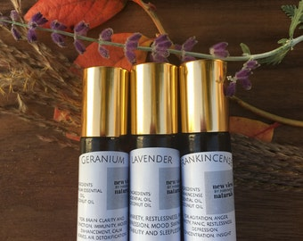 Favorite Blends Trio - 100% Natural Essential Oil roll on