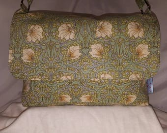 Green, William Morris, Laura Ashley, Messenger Bag, Cross Body Bag, Arts and Crafts, Bohemian, Boho, Shabby Chic,