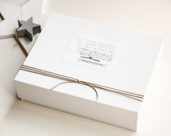 30th Birthday Keepsake box gift