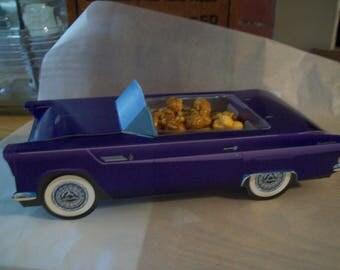 Retro  Vintage 55 Purple T-Bird  Food Box,Popcorn Box Kids Brithday Party Set of 5