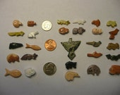 Native American Style Hand Carved Stone Fetish Animals  27pcs. with Pendant