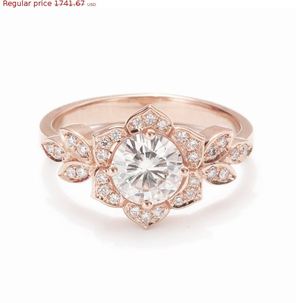 Valentines SALE Unique Engagement Ring By SillyShinyDiamonds