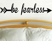 Be Fearless arrow  - wall decal arrow decor vinyl sticker hunting camping outdoor living room WD165