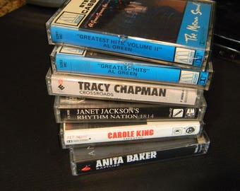 Vintage cassettes, Motown, Pop cassettes