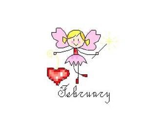 February Fairy Cross Stitch Pattern