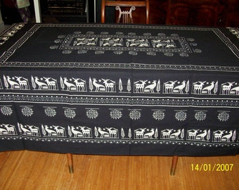 Tablecloth with traditional design from Turkey - large rectangle -oblong - bohemian