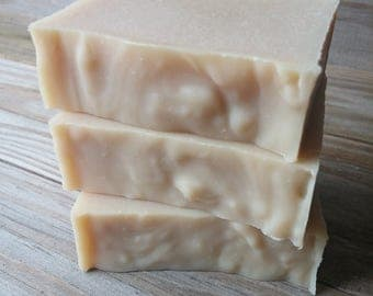 Neem + Tallow Facial Soap Bar, Handcrafted All Natural Cold Process Grass Fed Tallow Soap