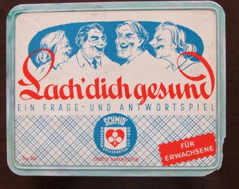 Vintage German Card Game Question and Answer