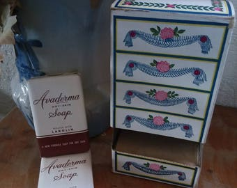 Vintage soap set--1941--Avaderma Soap Chest by Lightfoot Schultz Co.