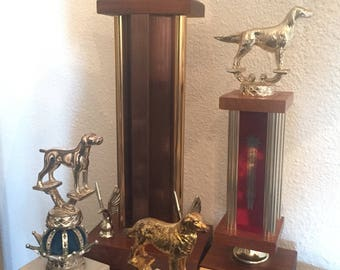 Vintage Dog Trophies Set of four Dog Show Trophy Best in Show Obedience