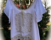 Izzy Roo Rustic Romantic Ballerina Top Shabby Magnolia Pearly Pink Tatter Cutie Size Small/Medium