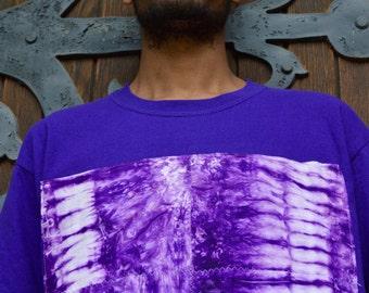 Purple Senegalese Tie Dye Patch T-Shirt
