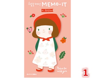 Cute Sticky Notes, Red Riding Hood Sticky Notes, Cute Girl Sticky Notes