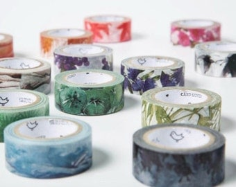 Watercolour Flower Washi Tape Masking Tape Planner Stickers Scrapbooking Stickers