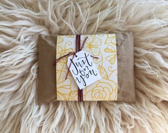 Purchasing a Gift? Wrap it and add a hand drawn custom note.
