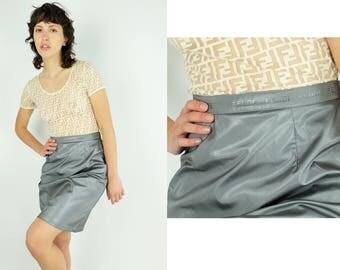 FENDI  Embossed Waist Skirt