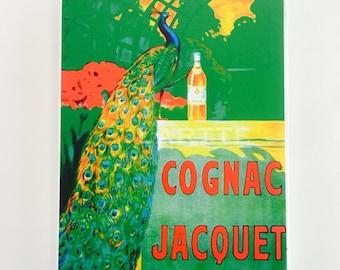Wall Decor Vintage Travel Tile Peacock Cognac Wall Tile