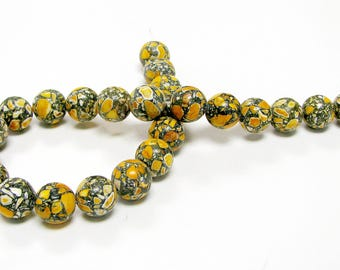 """Collage Stone Beads / 16"""" Strand / 16mm / 4 colors Available"""