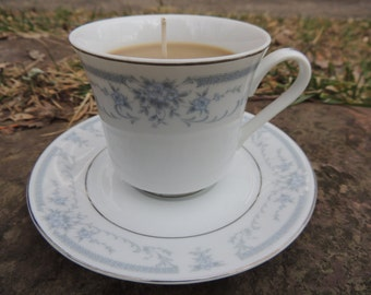 Coffee Teacup Candle and Saucer