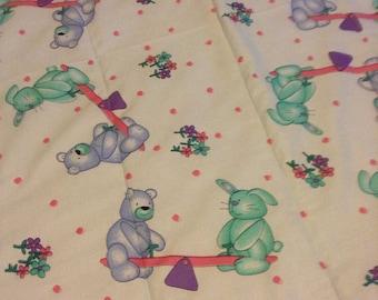 Quilt bears bunnies