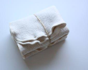 """DISCOUNTED  100% Organic Natural Sherpa Washcloth, Dish Cloth, Set of two - 12X12"""""""