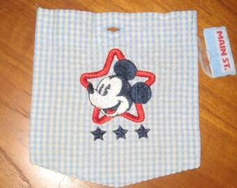 Micky Mouse  Applique & Pocket