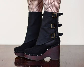 Steampunk Gothic Boot Cuffs Covers Spats Accessories Costume Pirate Burning Man