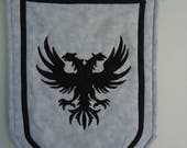 Custom order for Christa Double Headed Eagle Banner, Wall hanging, Coat of Arms, Quilted Banner