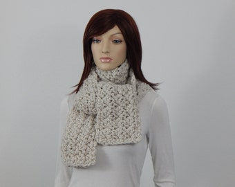 Crochet PATTERN PDF, The Weekender Scarf Crochet Pattern, Textured Straight Scarf, Wrap Scarf Crochet Pattern, Fluffy, MarlowsGiftCottage
