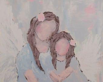 Angel Art Print | My Mother Angel | Abstract Angel |  8x8|12x12|16x16
