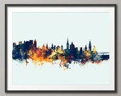 Salzburg Skyline, Salzburg Austria Cityscape Art Print (2699)